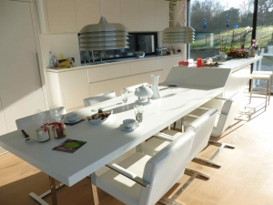 Solid Surface als kunststof keukenblad gebruikt