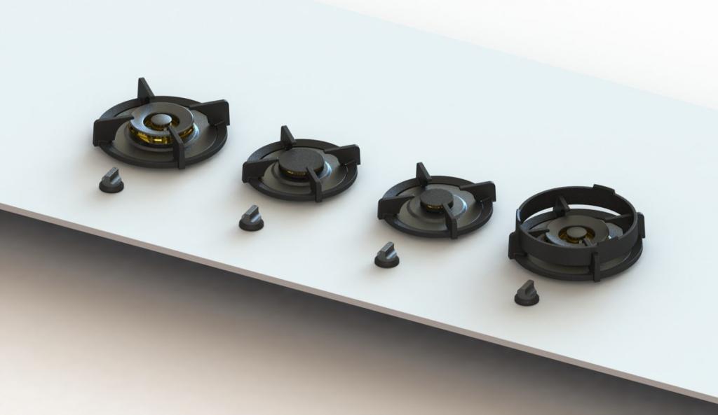 voorbeeld van solid surface in de keuken