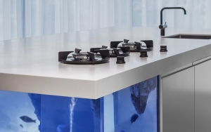 Aanrechtblad keuken van kunststof